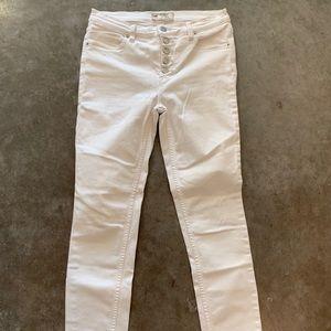 Free People White Denim Jeans